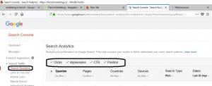 Google Search Console ancienne version